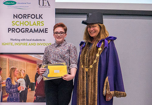 Ethan-receiving-an-award-at-the-Norfolk-celebration-event